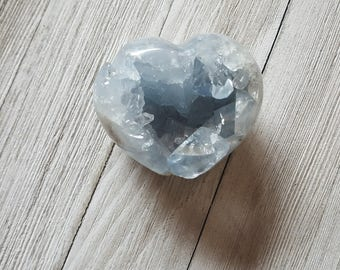 Blue Celestite Heart with FREE SHIPPING