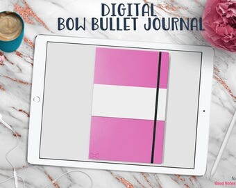 Bow Bullet Journal | Digital Planner for Goodnotes with Working Tabs | Flirt