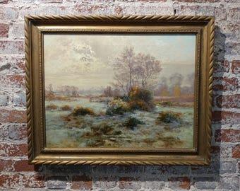 Albert-Gabriel Rigolot- Autumn Landscape -19th century Oil Painting