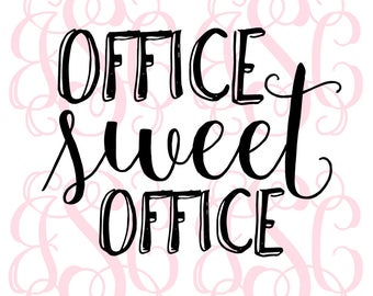 Office Sweet Office Vinyl Decal