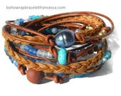 Boho Wrap Bracelet  Leather Wrap Bracelet  Leather Wrap Wrap Bracelet Leather  Beaded Wrap Leather Bracelet  JEWELRY beaded wrap