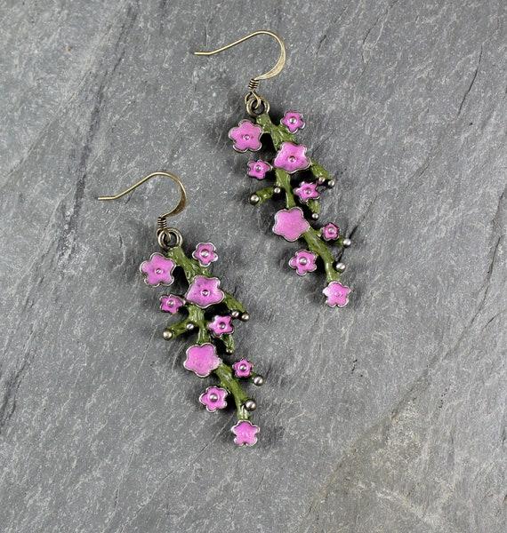 Springtime flower earrings