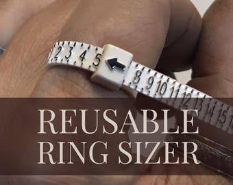 Plastic Ring Sizer ~ Reusable Ring Gauge ~ Finger sizer ~ Zip Tie Ring Sizer ~ Ring Measurer ~ Ring Measurer
