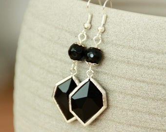 Earrings Onyx gemstone earrings