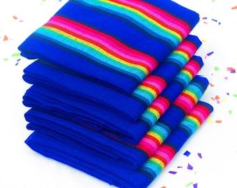 Tela Mexicana, Royal Blue Fabric by the Yard, Mexican embroidered, Fiesta decoration, Dia de los muertos decor, Tela Mexicana, FAB41