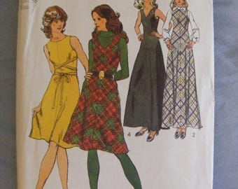 41% OFF 1972 Misses' Bias Dress or Jumper Simplicity Sewing Pattern 5068 Size 16 Bust 38""