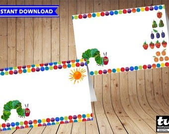 Very Hungry Caterpillar Food Tent - INSTANT DOWNLOAD