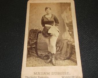 Barnum circus sideshow freak, Madam Duboise, The Lady Samson CDV