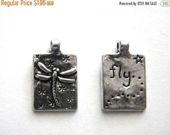 HALF PRICE 2 Silver Dragonfly Charms