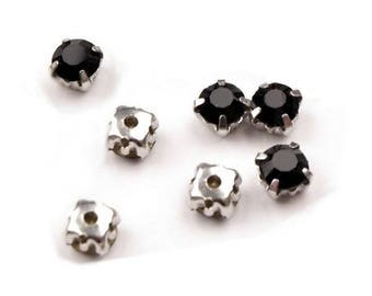 10 crystals set 5 mm jet black