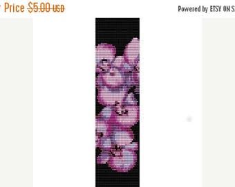 SALE HALF PRICE off Instant Download Beading Pattern Peyote Stitch Bracelet Orchid Seed Bead Cuff