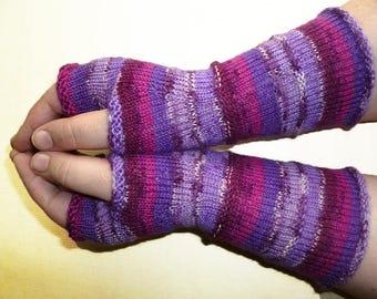Knit Fingerless gloves   Knitted Fingerless Mittens   Long Arm Warmers   Boho Glove   Women Fingerless   Wrist Warmers   Gift