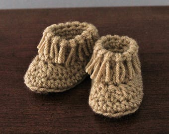 Crochet Moccasins, Handmade Baby Booties, Native American Shoes, Baby Shower Gift, Photo Prop, American Indian Accessory