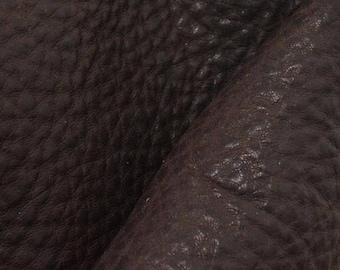 "NZ Deer Sale Rainforest Brown Leather New Zealand Deer Hide 8""x10"" Project Piece 4-5oz-5 DE-66096 (Sec. 3,Shelf 4,A)"