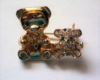 Tiny Teddy Bears Fashion Pin - 5475