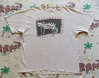 Vintage 90's Alejandro Escovedo Gravity T shirt, size Large 1992 Watermelon Records alternative country