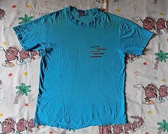 Vintage 80's Ocean Pacific abstract beach T shirt, size Medium 1983 neon surfing Thrashed