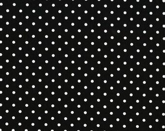 Timeless Treasures Black Polka Dot - Fabric by the Yard