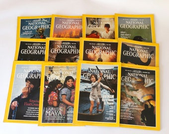 1989, National Geographic Magazine, Nat Geo 1989, Nat Geo Magazine, National Geographic Collection, National Geographic, Old Magazines