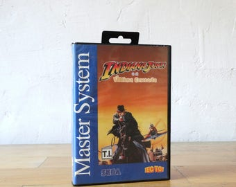 Indiana Jones, Sega video Game, Sega Master System Console, Video Game Catridge, Sega Catridge, Video Game, Sega Console, Old Console Game,