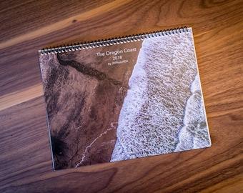 Oregon Coast 2018 Calendar, fine art photography, Cannon Beach, Haystack Rock, Sunset Photo, Beach, Ocean, Pacific City, Cape Kiwanda