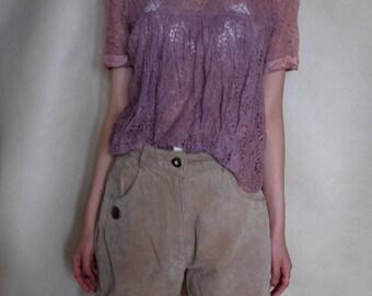 Vintage Purple Lace Top