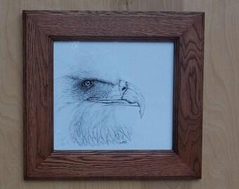Bird Art, Eagle Art, Wood Wall Art, Bird of Prey, Bald Eagle Art, Print, Bald Eagle Drawing, Home Decor, American Bald Eagle Wall Hanging