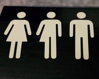 Transgender Stick Figure Vinyl - Gender Stick Figures Stickers