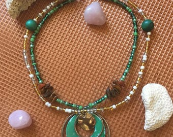 Malachite & Tiger's Eye Necklace