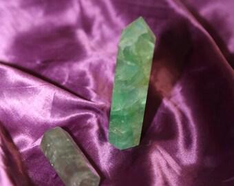 Green & Rainbow Fluorite Wands