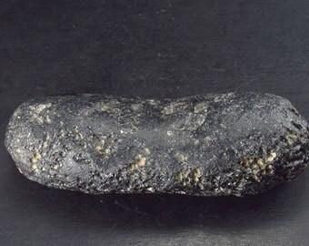 "Rare Large Black Tibetan Tektite from Tibet - 3.6"""