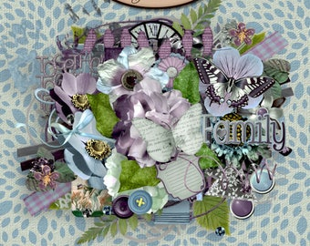 Digital Scrapbook: Everlasting Elements Pack