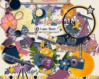 Digital Scrapbooking, Elements, Eclipse, Universe: Total Eclipse