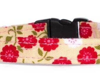 Noddy & Sweets Adjustable Cat Collar with bell and charm [Carnations]