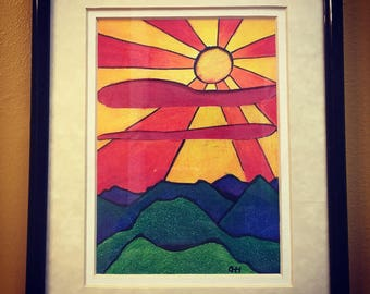 Bright Mountain Drawing