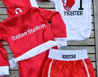 Boxer Fighter Robe CUSTOM Made Satin Baby...