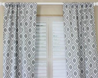 Gray Curtain Panels Set Grey Drapes Storm Grey Boy Nursery Curtain Panels Storm Gray Curtains Nursery Curtains Nicole Curtains Set of 2