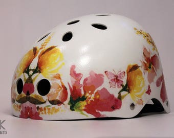 Special design cycling, skateboard, bmx helmet for ladies
