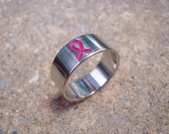 Breast Cancer Awareness Ring (Traditional Style)