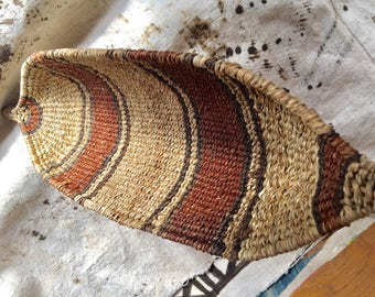 Ethiopia ethnic tribes banana basket, material made in from grass