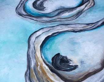 Original Oyster Triplet Painting 24x30