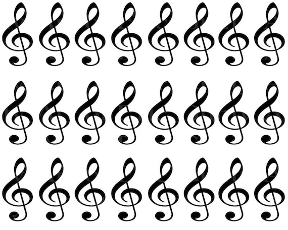 Music Band Notes Birthday - Designer Strips - Edible Cake Side Toppers- Decorate The Sides of Your Cake! - D22692