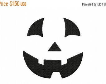 50% OFF - 4X4 Jack-o-Lantern Face Machine Embroidery Design Multiple Formats Available - Instant Download