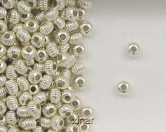 Sterling Silver 5mm Corrugated Donut Spacer Beads, Choice, Lot Size-Price