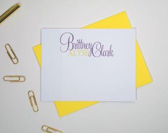 Personalized Stationery, Custom Stationery Cards, Personalized Note Cards, Blank NoteCards, Paperienco, Personalized Stationary Set of 12