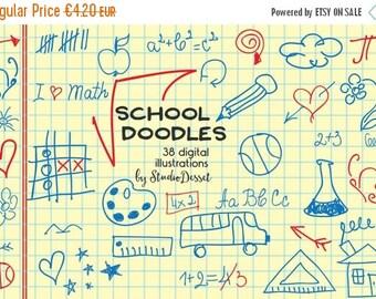 SUMMER SALE - 55% OFF School Cliparts, Doodle Clipart, Notebook Doodles, Teacher Graphics, Student, Math, Arrows, Ink Cliparts, Digital Pape