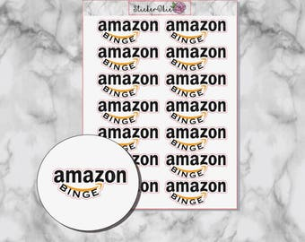 F002 Amazon Binge Planner Sticker