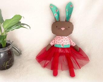 Penelope Bunny ragdoll - Stuffed animal - Cloth rabbit
