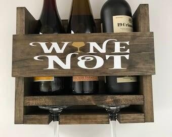 Wooden Wine Rack Wine Not