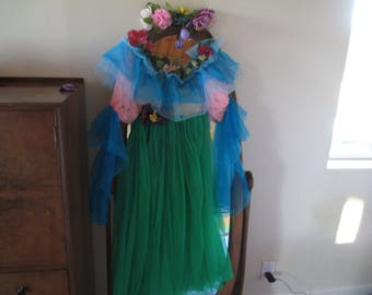Fairy Costumes - Floral Wreaths - Chiffon - Wonderful  - Turquoise, Green & Pink - LOOK at our other 5 Fairy Costumes!